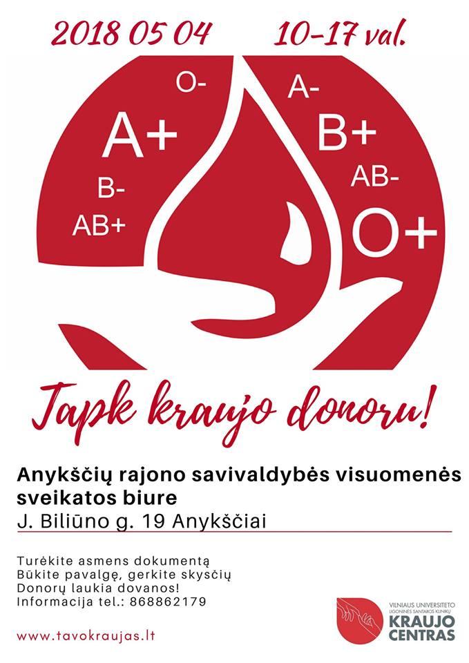 Plakatas Donoru 2018 m